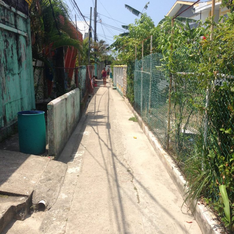Street on Bonacca - Guanaja Islands